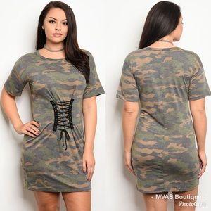 Dresses & Skirts - Camo Corset T Shirt Dress